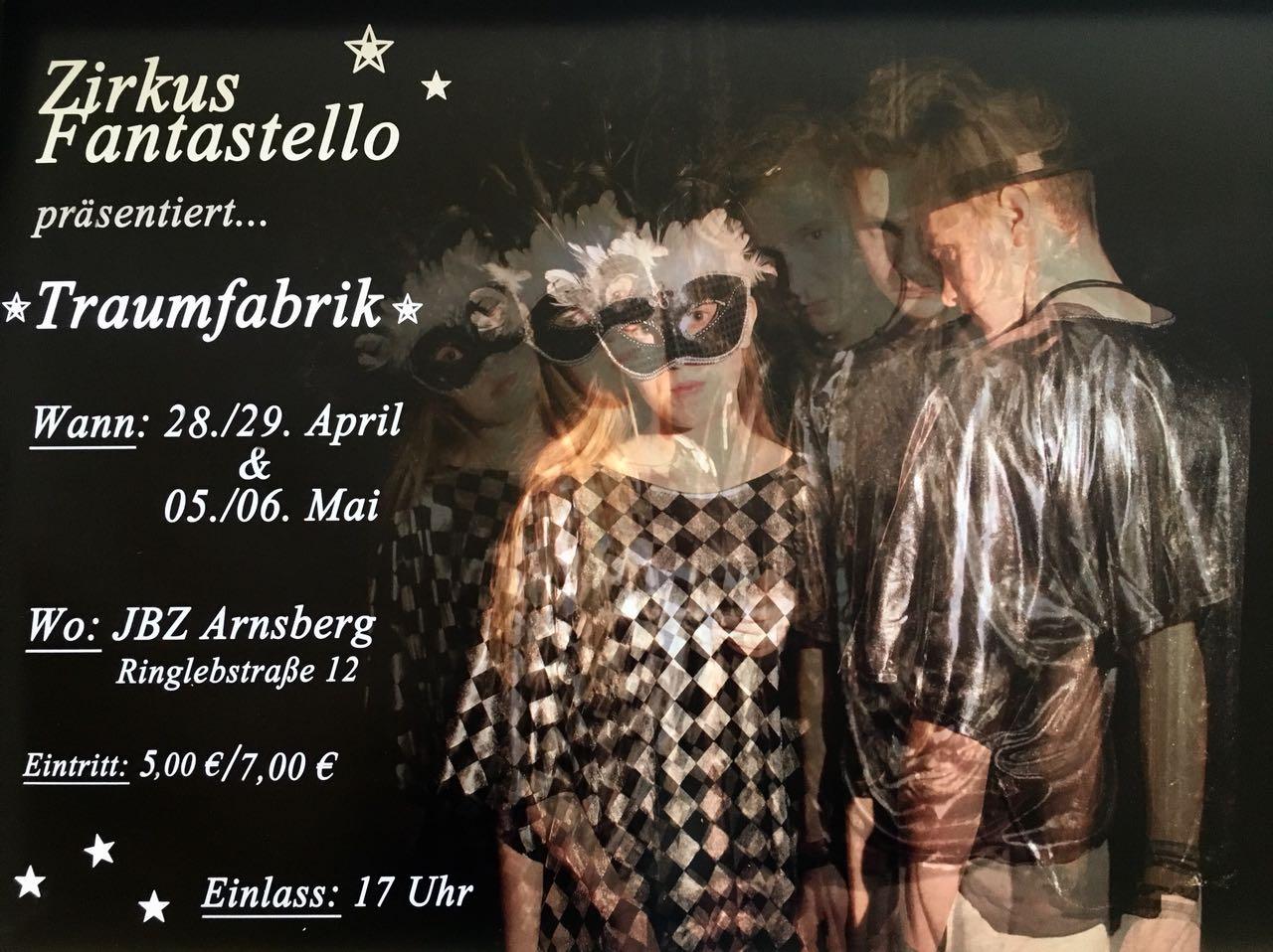 """Zirkus Fantastello präsentiert Zirkus Gala """"Traumfabrik"""""""